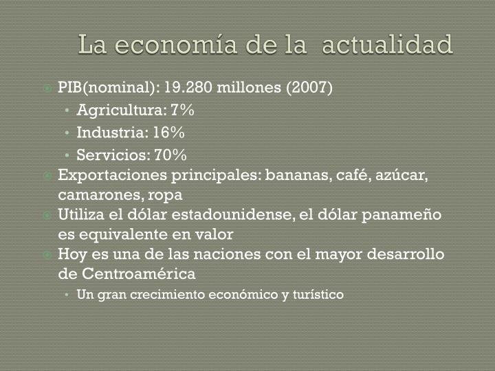 La economía de la  actualidad
