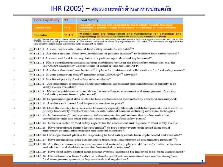 IHR (2005) –