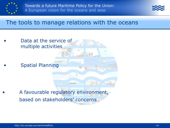 The tools to manage relations with the oceans