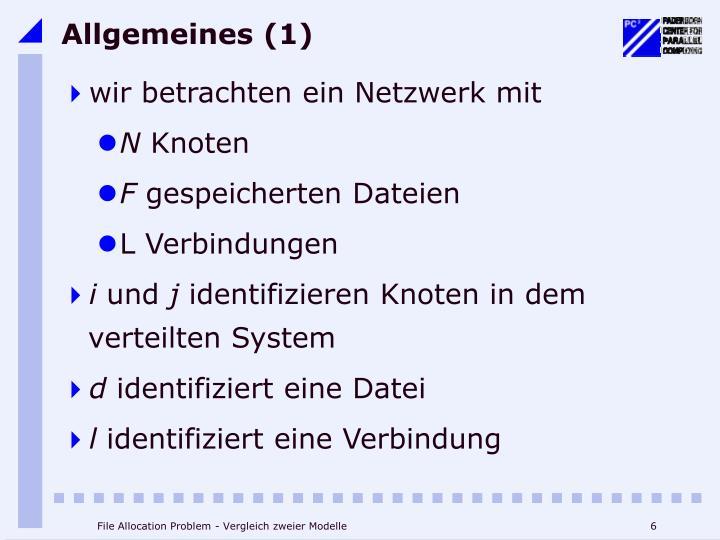 Allgemeines (1)
