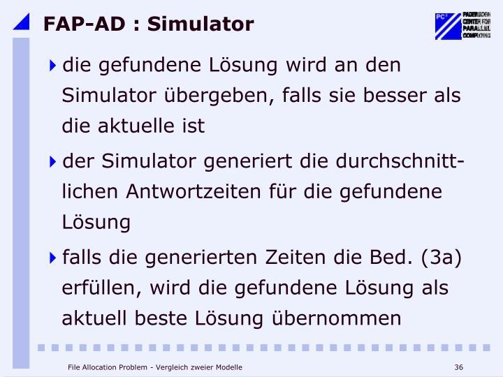 FAP-AD : Simulator