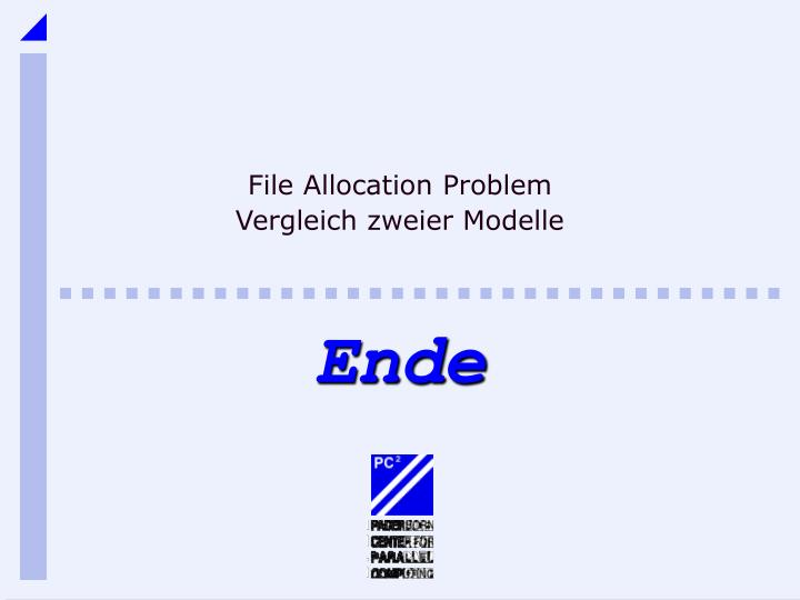 File Allocation Problem
