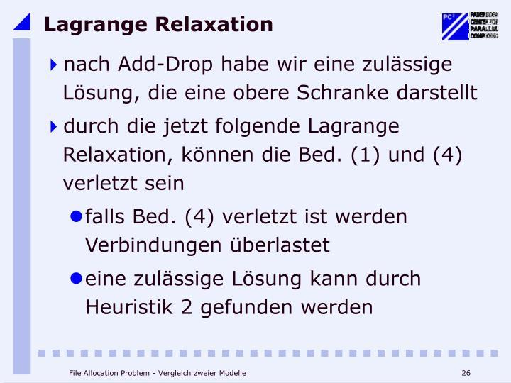Lagrange Relaxation
