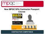 new mpqc spa contractor passport course