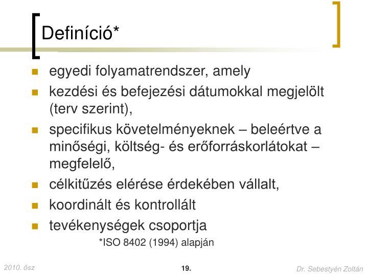 Definíció*