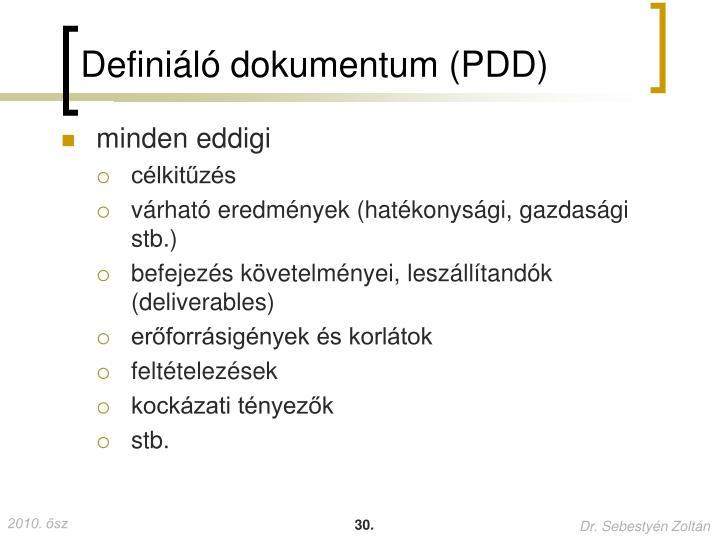 Definiáló dokumentum (PDD)