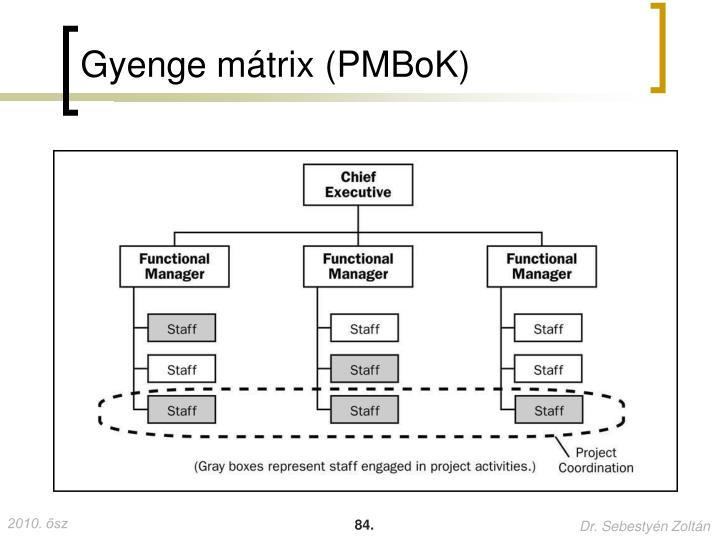 Gyenge mátrix (PMBoK)