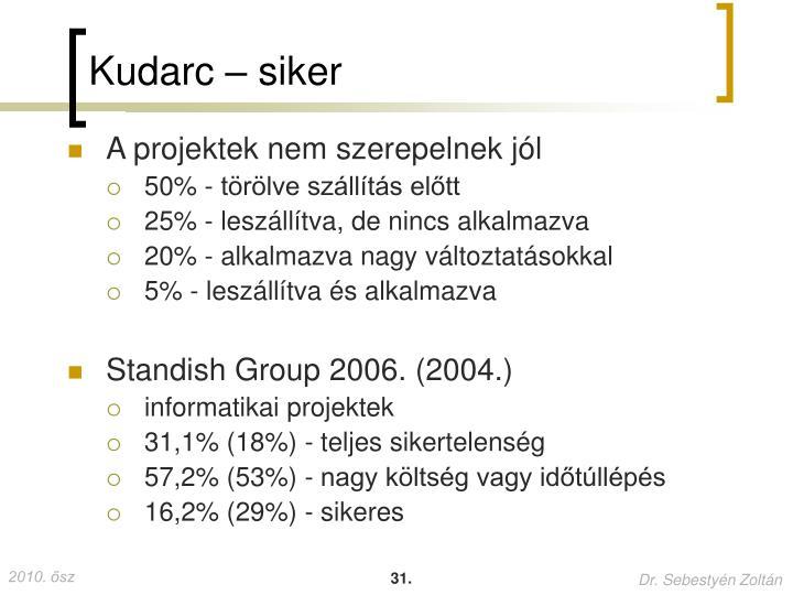 Kudarc – siker