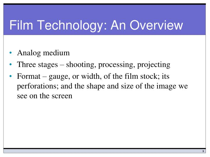Film technology an overview