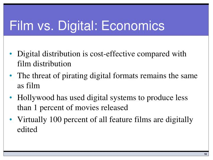 Film vs. Digital: Economics