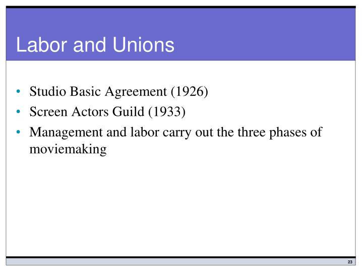 Labor and Unions