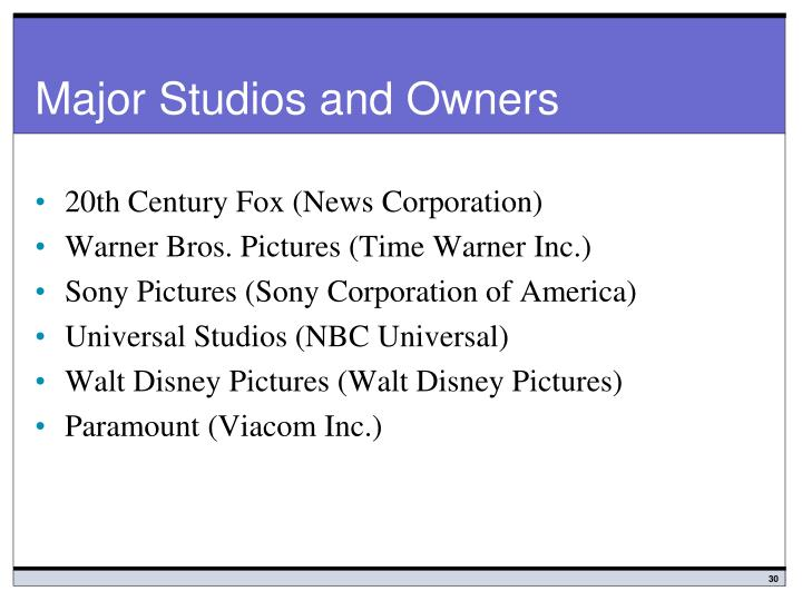 Major Studios and Owners
