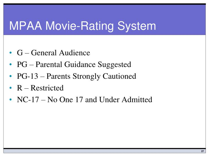 MPAA Movie-Rating System