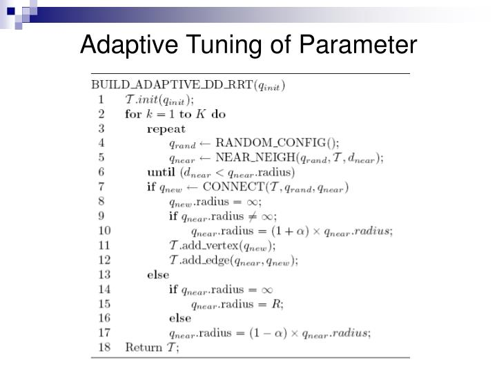 Adaptive Tuning of Parameter