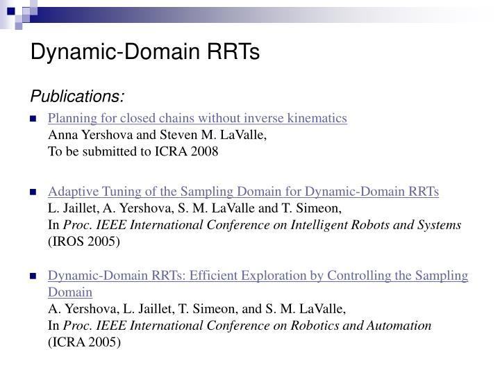 Dynamic-Domain RRTs