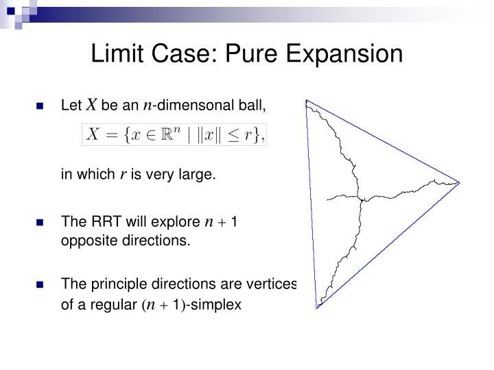 Limit Case: Pure Expansion