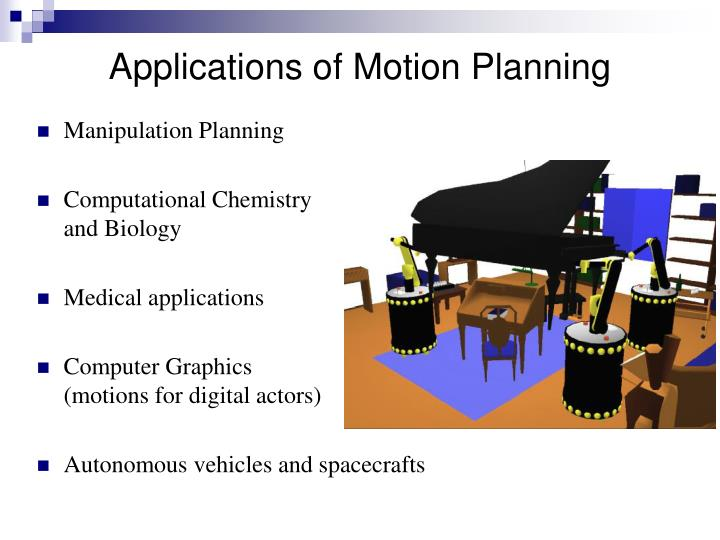 Applications of Motion Planning