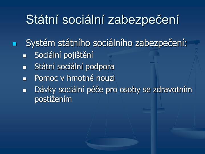 Státní sociální zabezpečení