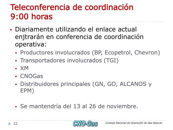 Teleconferencia de coordinación