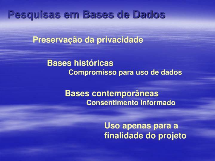 Pesquisas em Bases de Dados