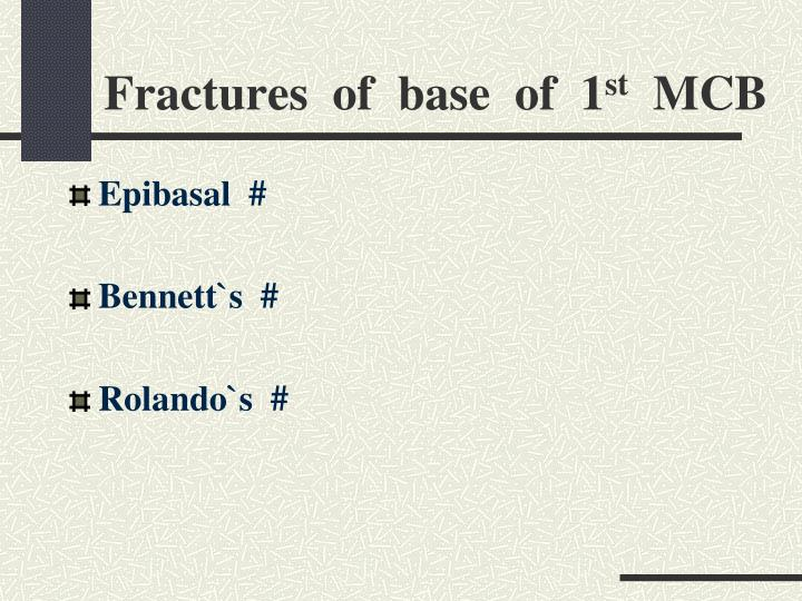 Fractures  of  base  of  1