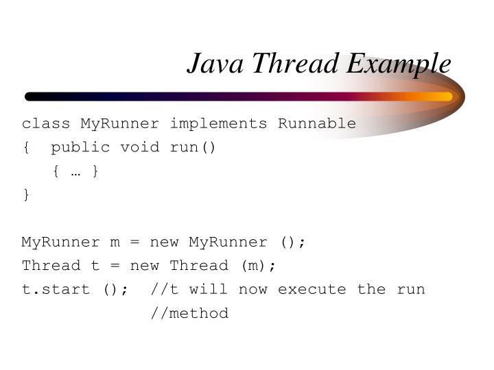Java Thread Example