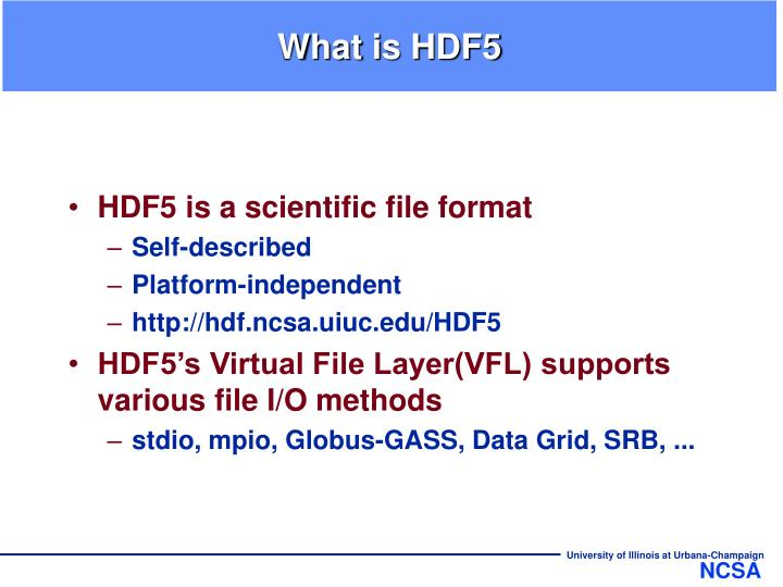 What is hdf5