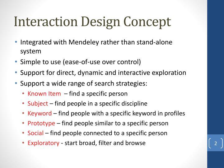 Interaction Design Concept