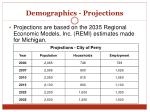 demographics projections