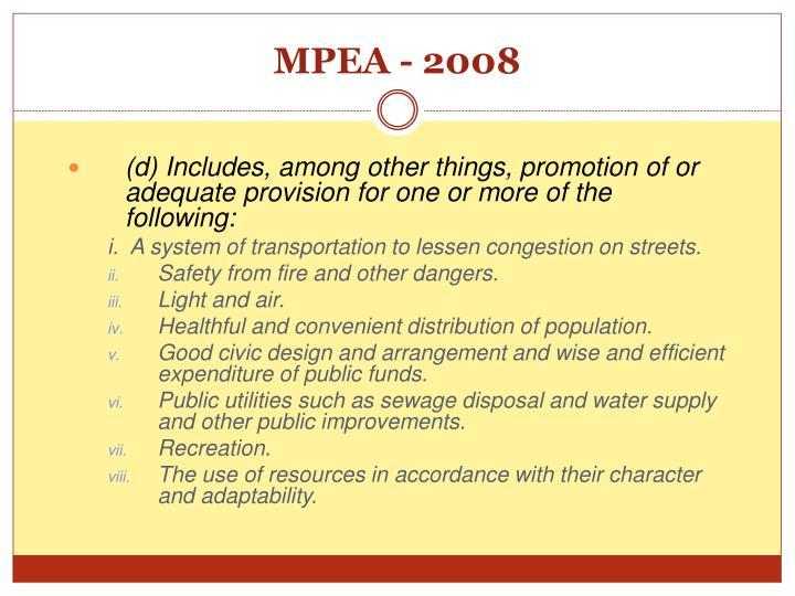 MPEA - 2008
