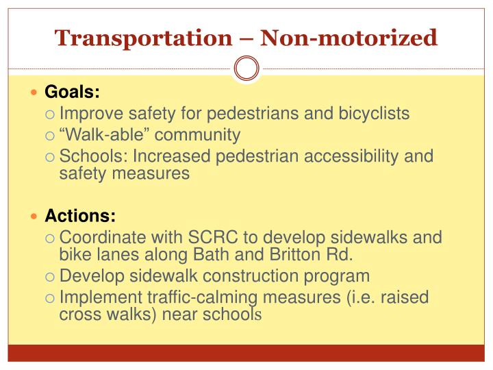 Transportation – Non-motorized