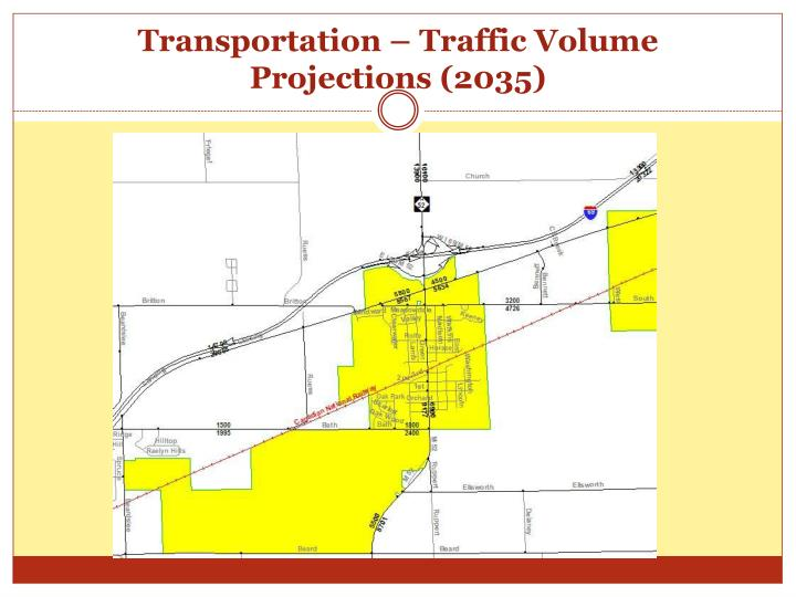 Transportation – Traffic Volume Projections (2035)