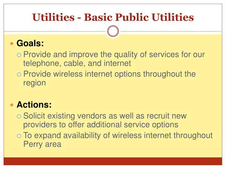 Utilities - Basic Public Utilities