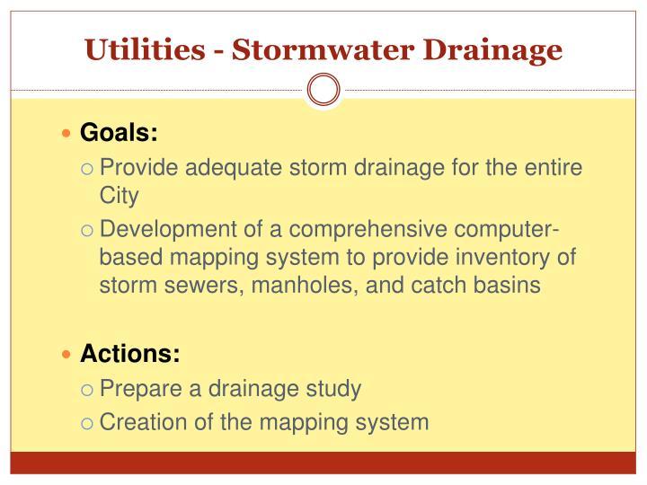 Utilities - Stormwater Drainage