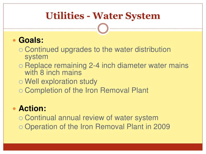 Utilities - Water System