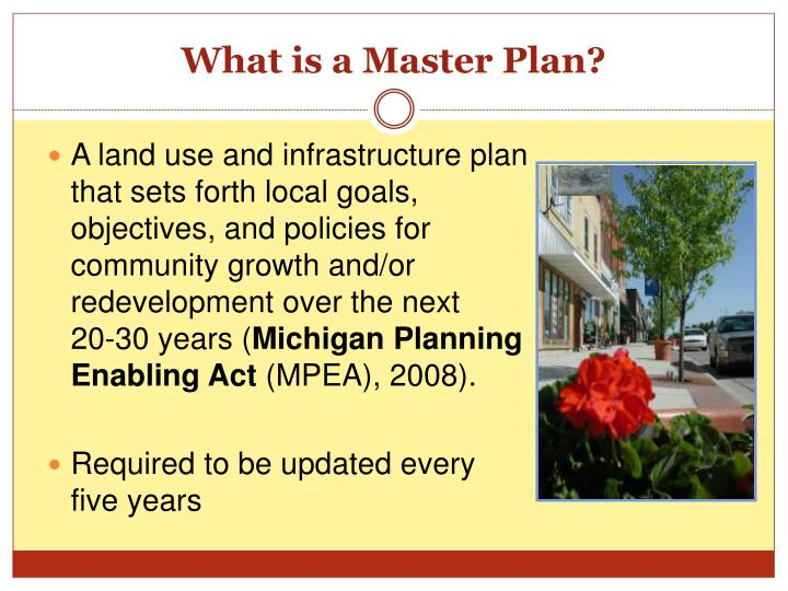 What is a master plan