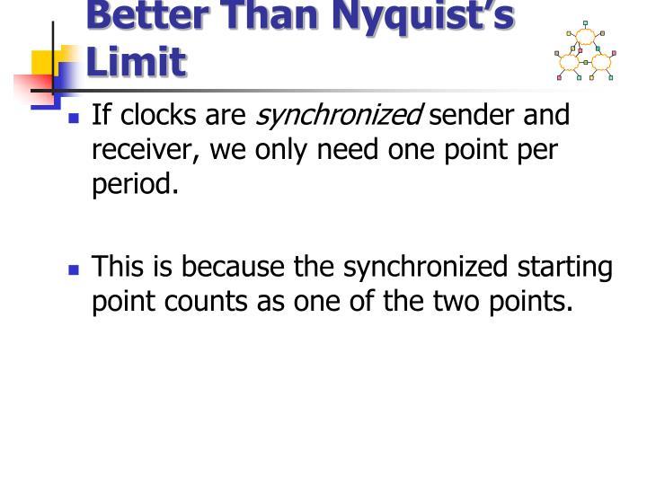 Better Than Nyquist's Limit