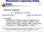 maximum capacity data rate
