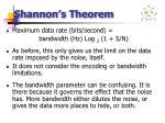 shannon s theorem