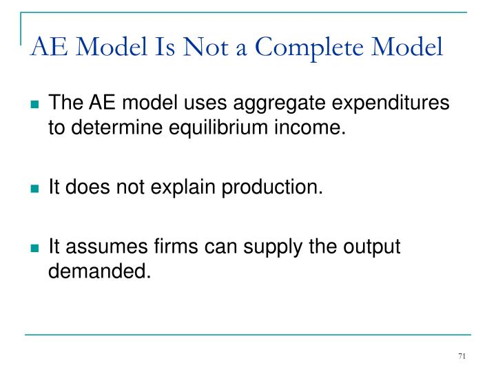AE Model Is Not a Complete Model