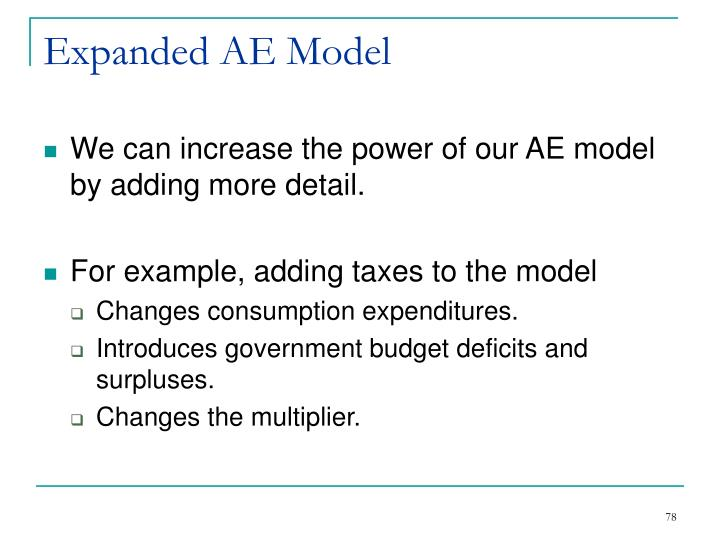 Expanded AE Model