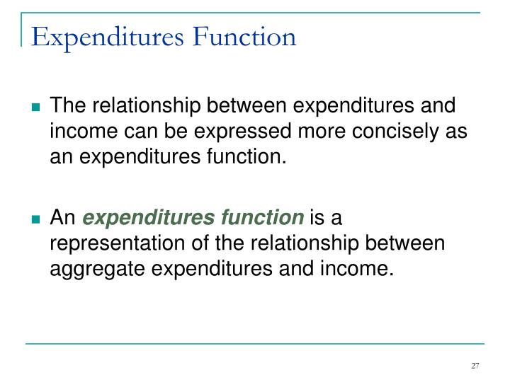 Expenditures Function