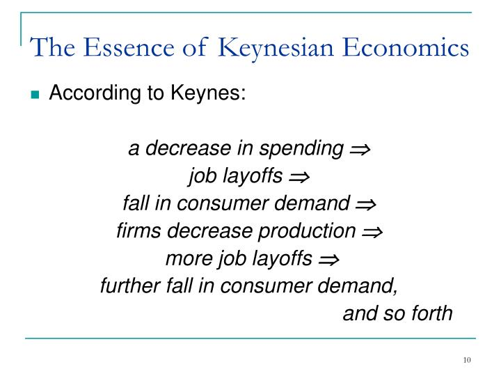 The Essence of Keynesian Economics