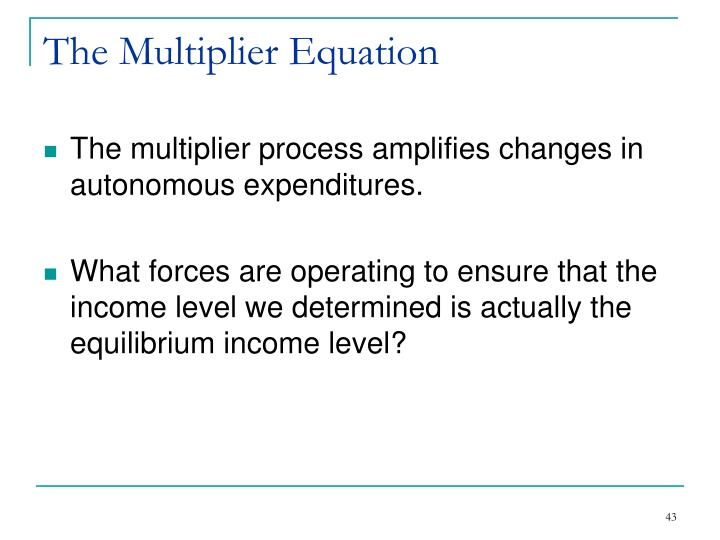 The Multiplier Equation