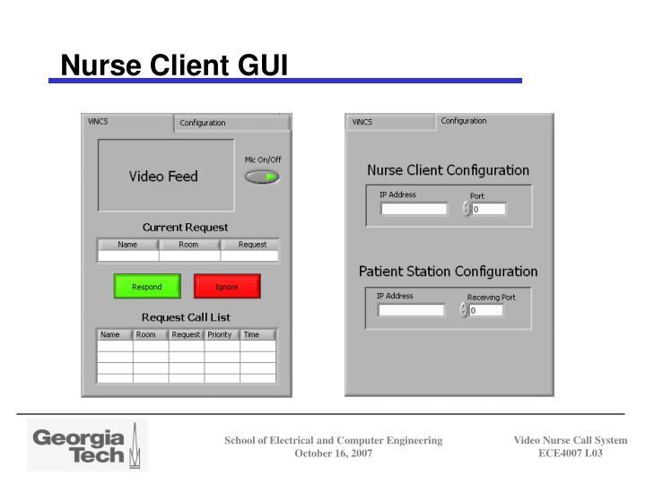 Nurse Client GUI
