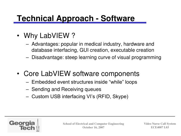 Technical Approach - Software