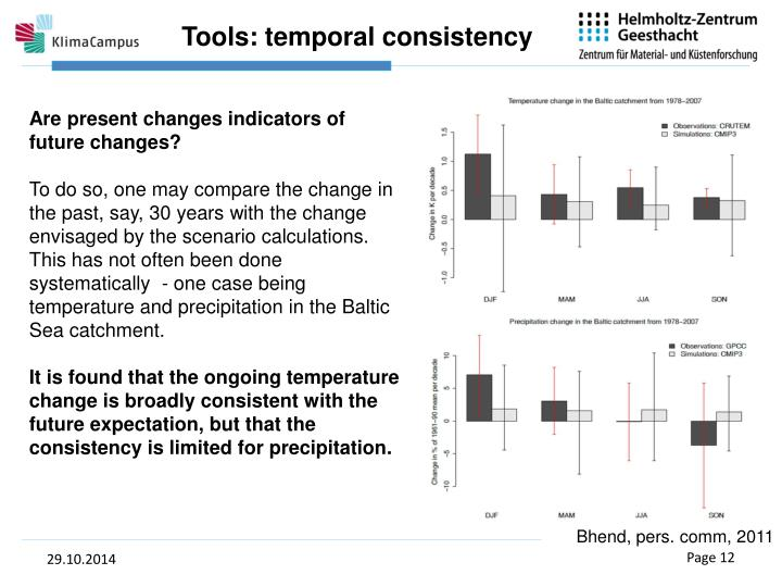 Tools: temporal consistency