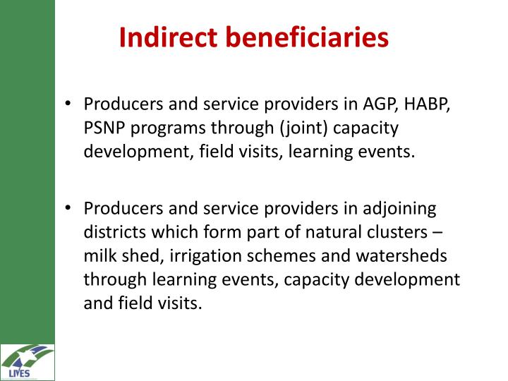 Indirect beneficiaries