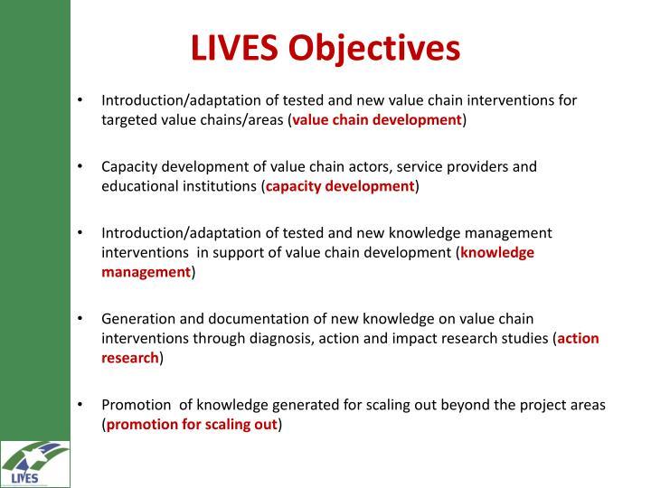 LIVES Objectives