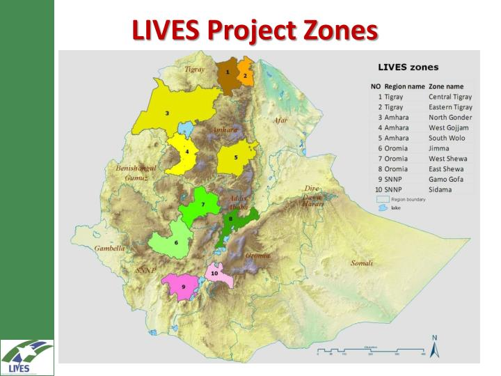 LIVES Project Zones